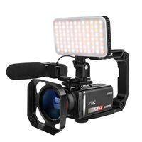 "4k digitaler HD-Camcorder Vlog-Kamera Ordro AX60 3,5 ""IPS-Bildschirm 12x optischer Zoom YouTube Live-Stream-Videokameras für Blogger"