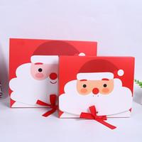 Bow Noel Baba Dekorasyon Paketleme Şeker İçin Çocuk Parti DHL Ücretsiz KKF2099 ile Kurabiye Kağıt Kutuları Ambalaj Noel Hediye Kutusu Sweets