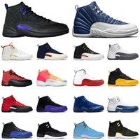 New Mens Baloncesto Zapatos 12s Jumpman Stone Blue 12 inverse Dark Concord Guilly Guga Gold Trainers Tamaño 13 Zapatillas