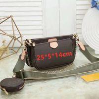 Сумка Женская сумка Multi Pochette Bag Chain Chrossbody Сумка Мода Небольшая сумка на плечо 3 шт. Кошелек Multi Color Relds WFDGF