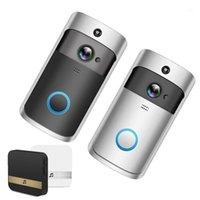 Дверные звонки Smart WiFi Беспроводное видео Дверной звонок Удаленный монитор Домофон для апартаментов ИК-сигнализация Camera1