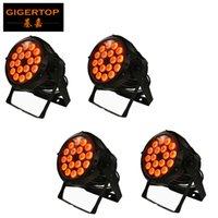 TIPTOP 4XLOT 방수 LED 18x12W 파 라이트, 12W RGBW LED 동위 빛, IP65 옥외 LED 파 캔 무대 조명 쇼 DMX 4 / 8 채널 듀얼 모드