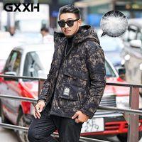 Dimensioni extra large di buona qualità Uomo Down Coat GXXH Brand 150kg Big Men Winter Winter Antivento con cappuccio con cappuccio Giacca spessa 3xL-6XL 7XL 8XL1