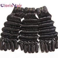 Full End Profundo Ola suelta Brasileña Virgen Weaves Tejidos sin procesar Tiancia Funmi Romance rizos Brasileño Human Hair Extensions 3 paquetes