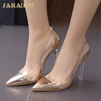 Sarairis New Elegant Shallow Thin High Heels Pumps Pionted T...