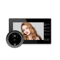 Türklingel Türglocke DREURFEL MET CAMERA Video Peephole Eye 4,3 Zoll TFT LCD IR Nacht Vision 3 Modi Aufnahme POS NAVE1