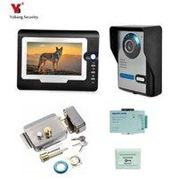 Yobang sécurité Freeship 7 pouces vidéophone de porte vidéo Bell sonnette Intercom moniteur couleur de contrôle d'accès bouton Quitter