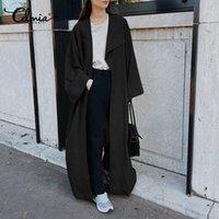 5xl elegantes mujeres manga larga trinchera otoño abrigo largo celmia plus size casual suelto oficina fiesta exterior ropa exterior moda rompevientos 71