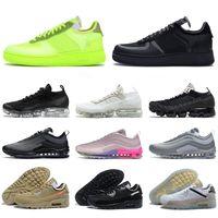 نوعية جيدة شبكة 1 واحدة أحذية كرة السلة الرجال النساء ثلاثة أبيض وأسود 97 ثانية 90 الأخضر حذاء رياضة الرجال النساء الرياضة حذاء