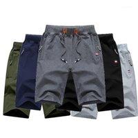 Pantalones cortos para hombres TJWLKJ Hombre Verano Hombre Playa Algodón Casual Color Sólido Male Homme Marca Ropa 1