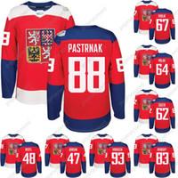 2016 Copa do Mundo de Hóquei República Checa Team Jersey WCH 46 David Krejci 48 Tomas Hertl 67 Frolik 93 Voracek 17 Sobotka 6 Kempny 88 Pastrnak