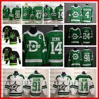2020 inverno classico Dallas Stars New Black 91 Tyler Seguin 14 Jamie Benn 4 Miro Heiskanen Alexander Radulov 24 Roope Hintz Hockey Jerseys