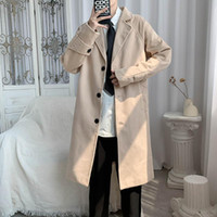 Inverno Vintage Khaki Cappotti Mens Business Casual Nero Trench lungo del Mens Jackets Vogue Uomo 2020 d'avanguardia di Gentleman