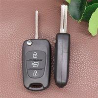Неразрезанные лезвия 3 кнопки Flip Remote Key Shell для Kia K2 K5 Hyundai Kia Kia Keys Cover Case с логотипом Hyudai