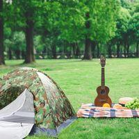 Палатки и укрытия 3-4 человека кемпинга купольная палатка Camouflage1