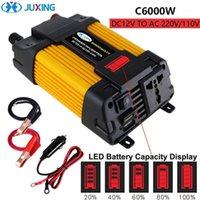 Auto Jump StarterPower Inverter Juxing 6000W / 4000W Converter voor vermogensspanning Transformator DC 12V naar AC 220V met LED Display-2 USB Gebruik vehi