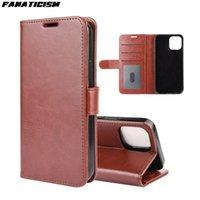 Flip caso del soporte cartera con cuero para iPhone 12 Pro Max 12mini 12pro iphone12 caballo loco de la piel del cuero del patrón cubierta del teléfono