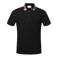 2020 Novo Luxo Polo Mens Roupas PoloShirt Designer Camisetas Mistura de Algodão Manga Curta Respirável Respirável Roupa Sólida