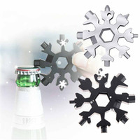 18 en 1 combinaison d'outils d'outils multifonctions combinaison d'outils portables compacts ensembles d'outils de tournevis à outils à flocons de neige Outils de la chaîne clé