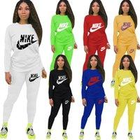 Frauen Anzug Zwei Stücke Outfits Designer Hosen Set Steigung-Farben-Jogginganzug Damen neue Art und Weise beiläufige Sportkleidung 7 Farben 2020