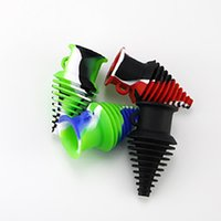 Glass Pipes dab rig Pipe silicone pipes colorful Spiral shape percolator bubbler tobacco pipe hookah Pipe Food grade silicone pipes