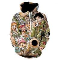3D Sıcak Satış Tek Parça Hoodies Luffy Moda 3D Hoodies Baskı Tek Parça Kazak Luffy Ceket Anime Erkekler Kazak KPOP1