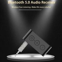 Aux Audio 3.5mm sans fil Bluetooth 5.0 Adaptateur de récepteur Stéréo Musique stéréo avec kit de voiture Bluetooth Mic Bluetooth Reviever Handsfree