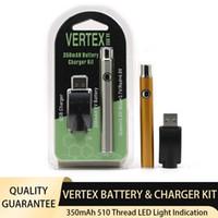 Vertex Vape Battery USB зарядное устройство набор 350 мАч 510 резьба предварительного нагрева Vavorizer батареи E Cigarettes Vape Pen VV батареи для атомов картриджей