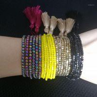 Shinus Boho Multi Layer Square Beaded Jewelry Pulseras de amistad Hombres Strand Pulseras Mujer Pulseras para mujer Charm1