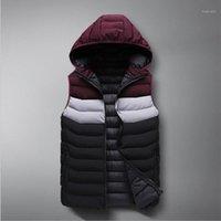 الرجال سترات 2021 الشتاء أسفل سترة القطن سترة الرجال عارضة سميكة الدافئة صدرية الرجال أكمام الأزياء overcoats1