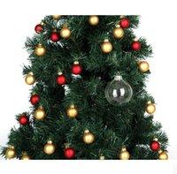 "Wedding Bauble Ornaments Christmas Xmas Glass Balls Decoration 80mm Christmas Balls Clear Glass Wedding balls 3""   80mm Christmas GWD7563"