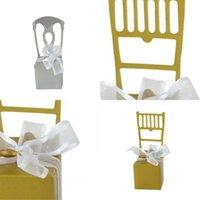 Zuckerkiste Goldener silbriger Stuhl Form Süßigkeiten Fall Kreative Verpackung Neue Stil Container Baby Vollmond Hochzeit Feiern Artikel 0 35JM P1