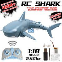 2.4G Uzaktan Kumanda Simülasyonu Köpekbalığı Prank Oyuncak, 360 Derece Döndürme, Ayarlanabilir Hız, 20 Dakika Dayanıklılık, Noel Çocuk Boy Hediye, 2-1