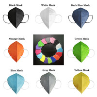 Hot kn95 adult face mask Factory 95% Filter FFP2 Colorful Disposable mask Activated Carbon Breathing Respirator 5 layer  masks