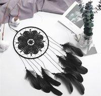 أسود dreamcatcher اليدوية الرياح الدقات غرفة diy شنقا قلادة ريشة الخرزة حلم الماسك الرئيسية جدار الفن شنق bbyhzv soif