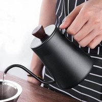بالتنقيط غلاية 400 ملليلتر البسيطة المقاوم للصدأ رشاقته القهوة الجري وعاء غلاية المنزل مطبخ أداة القهوة صانع وعاء 1