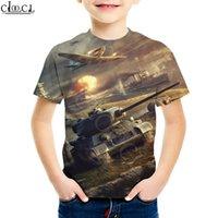 Bambino da 4 a 13 anni Gioco dei bambini World of Tanks T Shirt T-shirt Boy Girl Girl Stampa 3D Manica corta Abbigliamento Abbigliamento Adolescenti Abbigliamento Tops Y200713