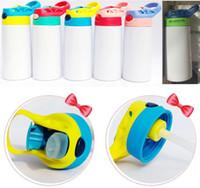 350ml botella de bricolaje niños de agua taza de Sippy 12 oz sublimación niños vaso blanco de acero inoxidable 316 de doble pared de aislamiento por vacío taza de Copas