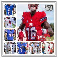 Personalizzato Collge Smu Mustangs Football Jersey Shane Buechele Ulisse Bentley IV Rasheee Rice Delano Robinson Kylen Gransson Reggie Roberson Jr.