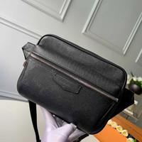 sacos de cintura clássicos para homens crossbody peito Bolsas senhoras real ao ar livre bolsas de couro homem da mala Tamanho: 21.0x 17.0x 5,0 centímetros