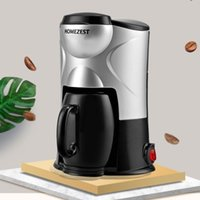 2 in 1 Electric Coffee Machine Maker 220V Home Protable Fully Automatic Mini American Coffee Maker 2020 New