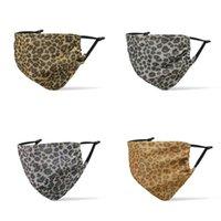 NOVO Leopard 2020 máscara de impressão pode ser lavado e reutilizado, respirável e à prova de poeira máscara protetora Lantejoulas 200pcs máscara projeto 5style T500318