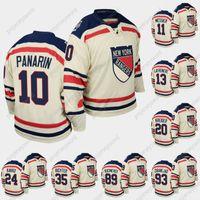New York Rangers 2012 Winter Clássico Branco Jersey Artemi Panarin Alexis Lafeniere Ryan Strome Kaapo Kakko Pavel Buchnevich Mika Zibanejad