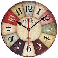 Настенные часы timelike деревянные часы современный дизайн винтажный деревенский потертый шикарный халатный офис кафе украшения кафе искусство большие часы1