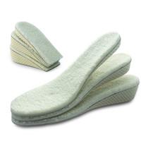 Avarde de invierno Zapatos Plantillas de lana Aumento de altura Aumente completo / media plantillas para hombres / mujeres Cojín de memoria INSERCIDOS INVISIBLE BOOTS PAD 4.5cm