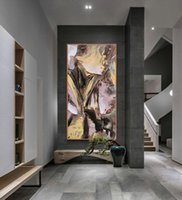 Modern Abstract Wall Art Oil Painting on Canvas Contemporary...