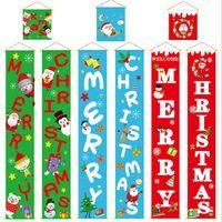 Красочные рождественские ткани куплеты двери настенные висит на стену для наружного сада веселые рождественские украшения баннер настенные подвески LXL634Y D