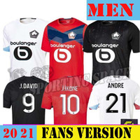 20 21 LOSC LILLE JERSERYS 2020 20 21 Maillot de pé Fonte Andre J.ikone Sanches Bamba J.David Yazici Man Football Camisas