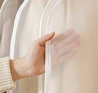 Clear Side-Open Brothes Borsa di stoccaggio per uso domestico Giacca camicia cappotto antipolvere idraulico Protezione a prova di umidità Jllkfh Carshop2006