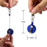 Carte d'identité Longe rétractable Badge Holder Reels avec clip Gardez le téléphone cellulaire clé anneau Reels KeyChain